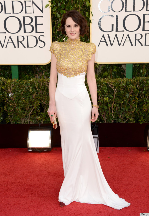 Michelle Dockery Golden Globes Dress 2013 See Her Red