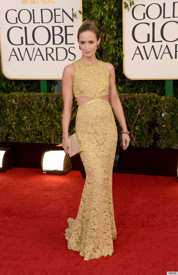 Emily Blunt Golden Globes Dress 2013: See Her Red Carpet ...