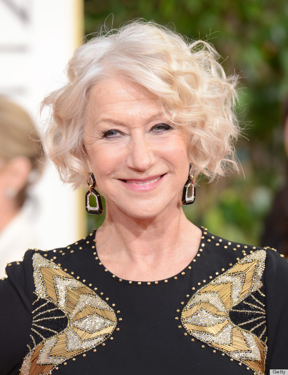 Helen Mirren Golden Globes Dress Stunning