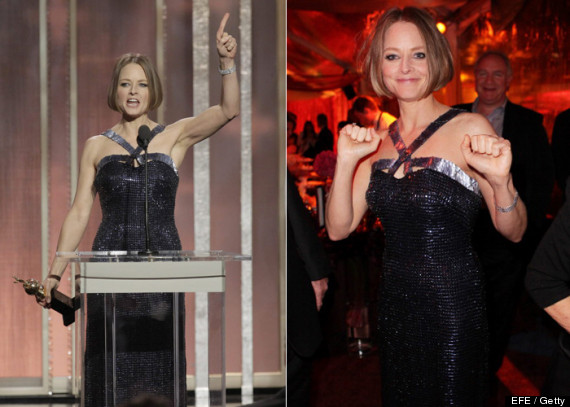 jodie foster globos de oro video