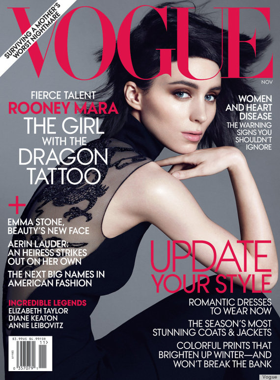 rooney mara covers vogue 39 s february 2013 issue photos huffpost