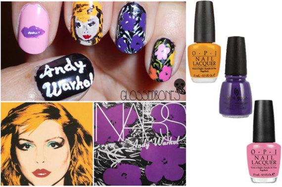 andy warhol nars diy nail art collage