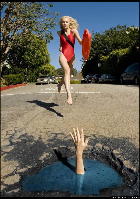 davide luciano pothole art