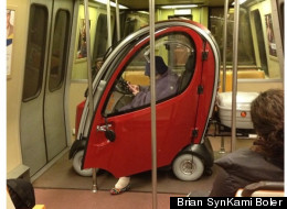 LOOK: Strange Device Spotted On Metro Train