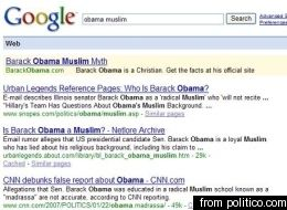 Obama Camp Buys Google Ads To Debunk Smear