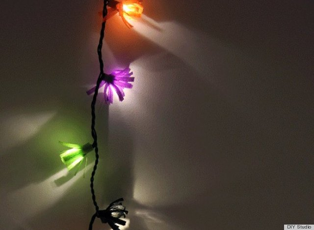 crepe paper fringe string light
