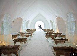 Records de visiteurs à l'Hôtel de glace