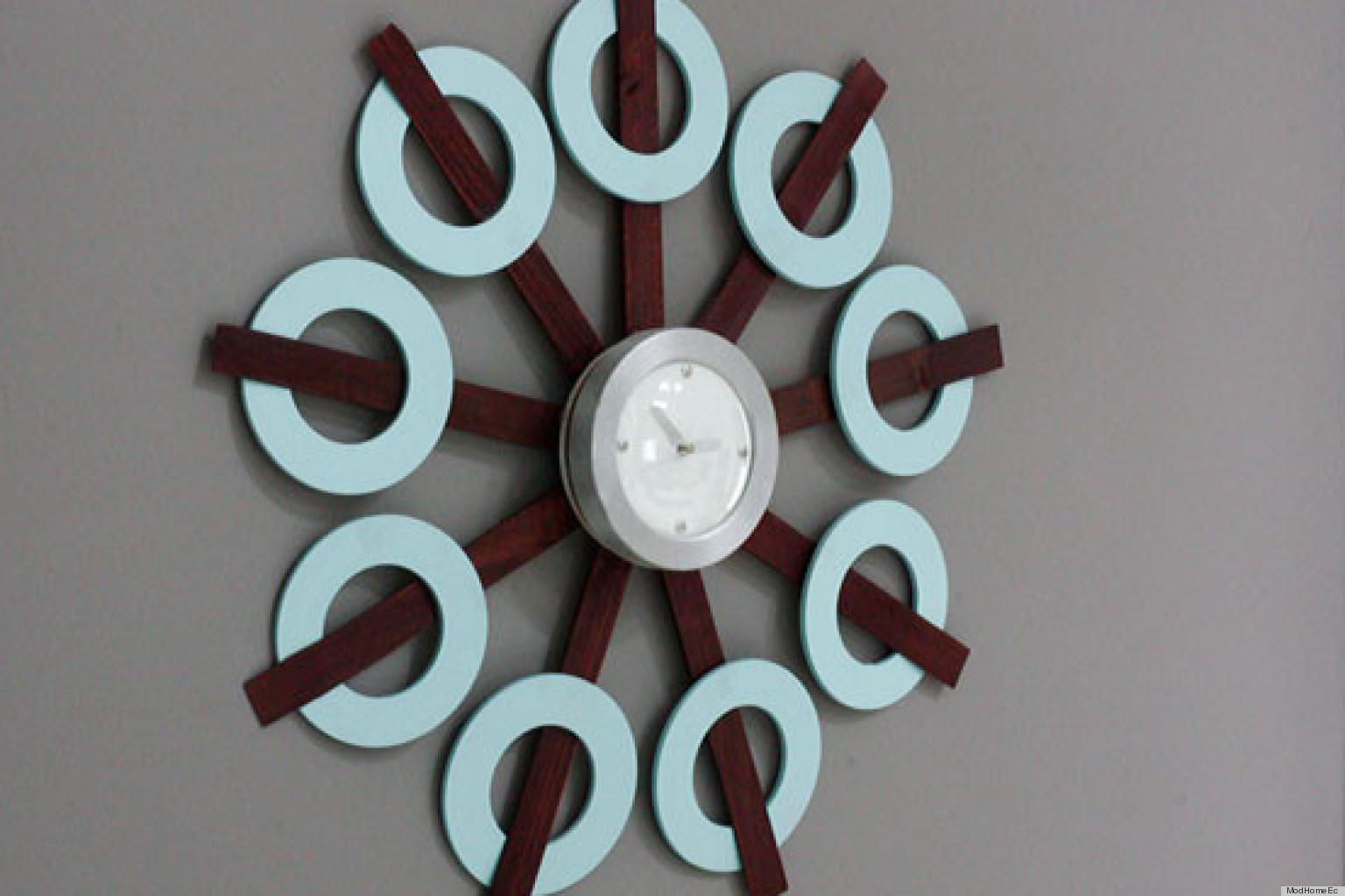 Make This Retro Inspired Clock Diy With Wood Shims