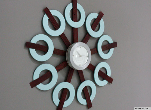 retro inspired clock diy