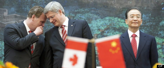 STEPHEN HARPER CHINA TRIP CEOS
