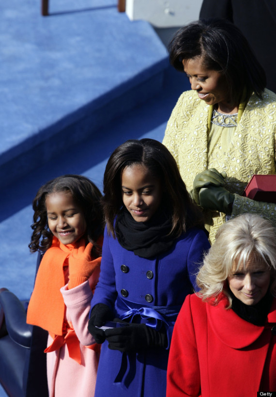 malia and sasha obama inauguration 2009