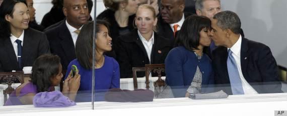 obamas inauguration kiss