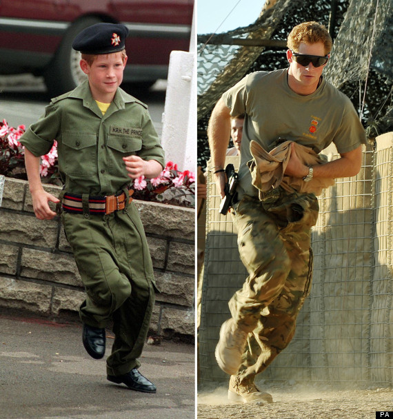 prince harry now and then