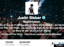 Justin Bieber Is Most Followed Person On Twitter, Gaga Drops To Second