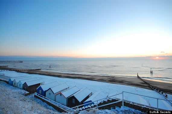 southwold beachthe suffolk coast_snow_january 2013