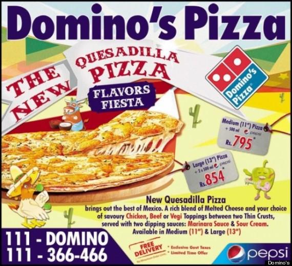 dominos quesadilla pizza