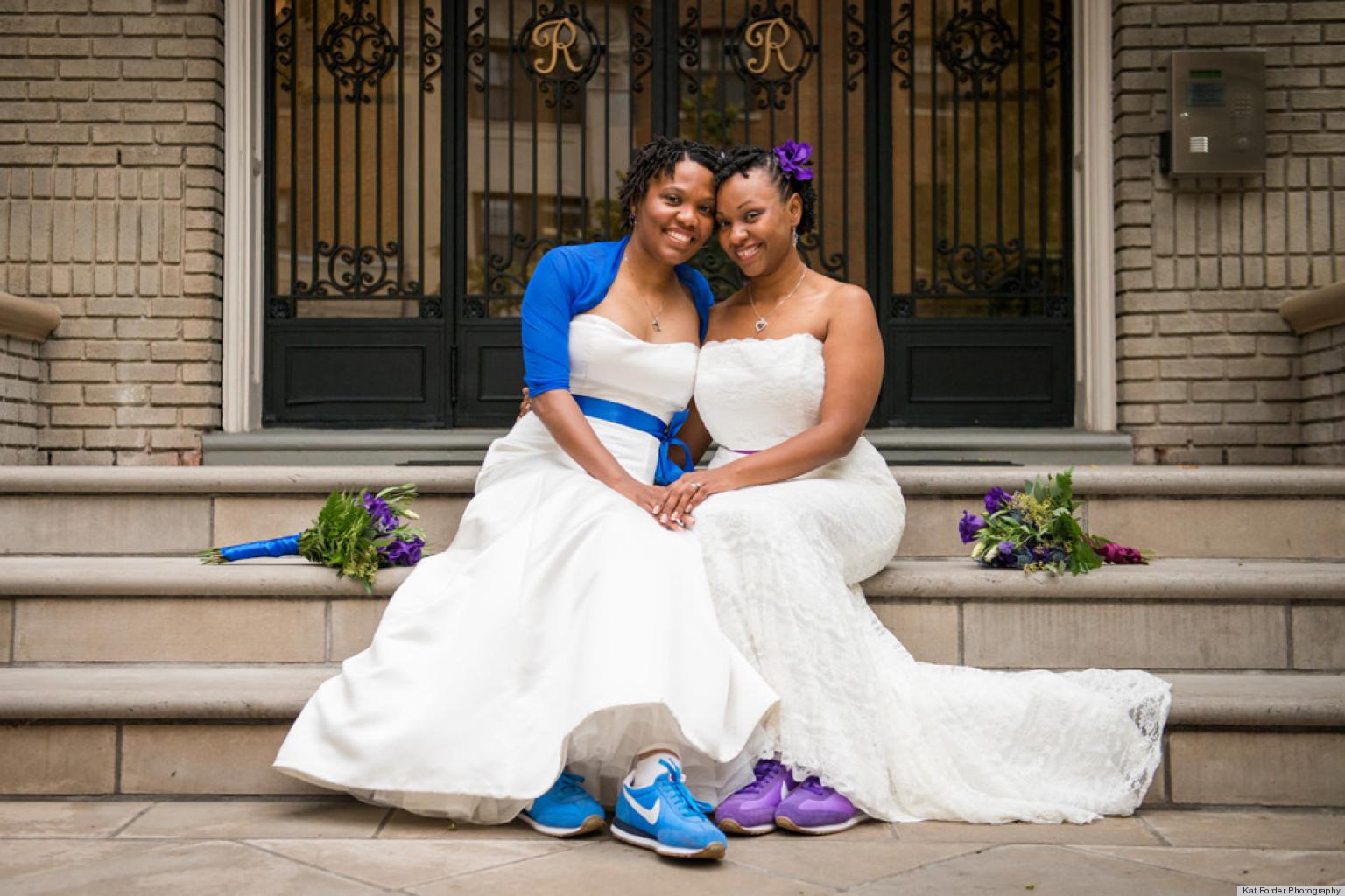 Beautiful Lesbian Wedding Marriage - Michelle &