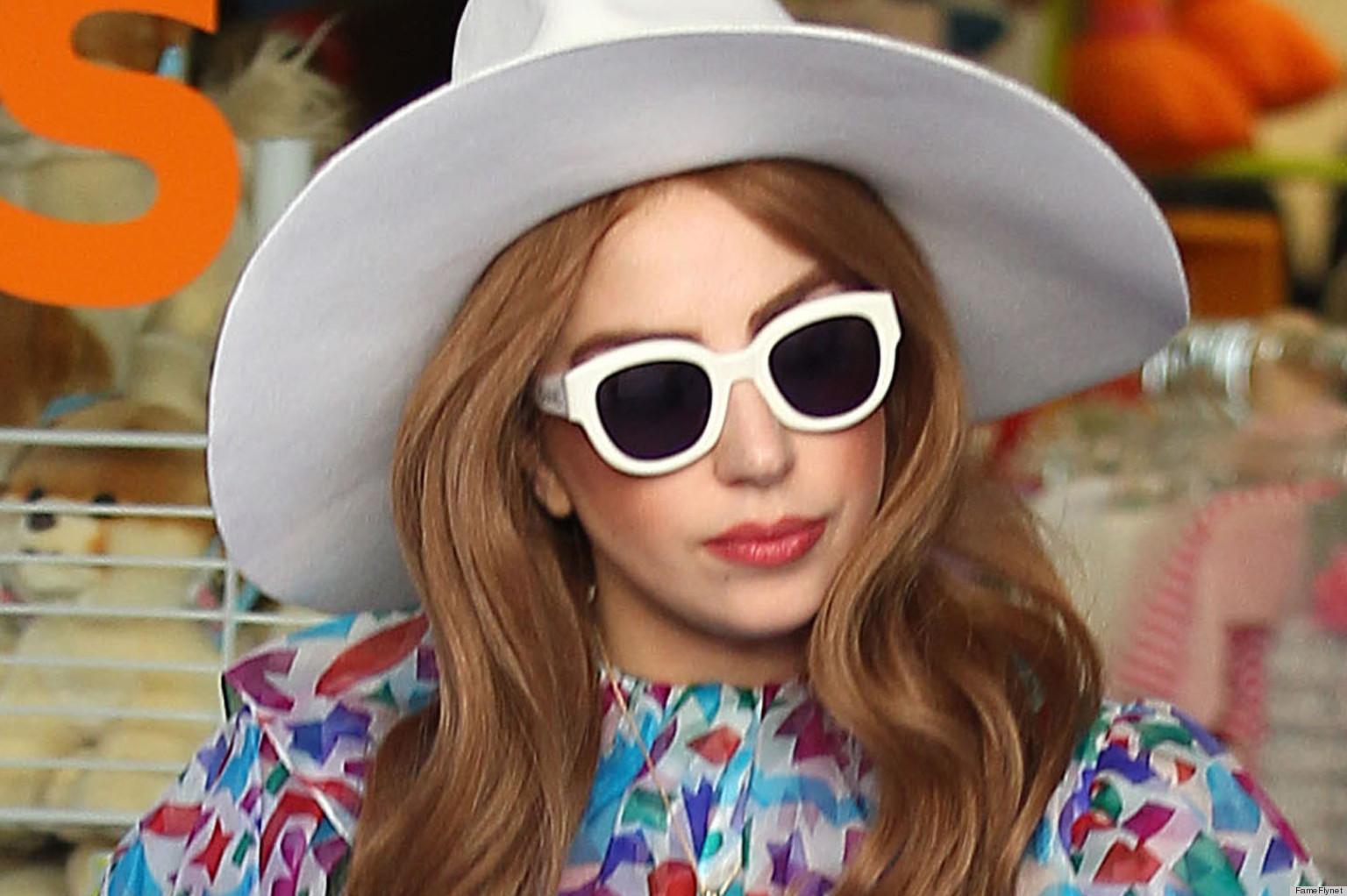 Sanskrit Of The Vedas Vs Modern Sanskrit: Lady Gaga Pulls A Rachel Zoe In Maxi Dress, Oversized