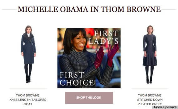 michelle obama thom browne coat