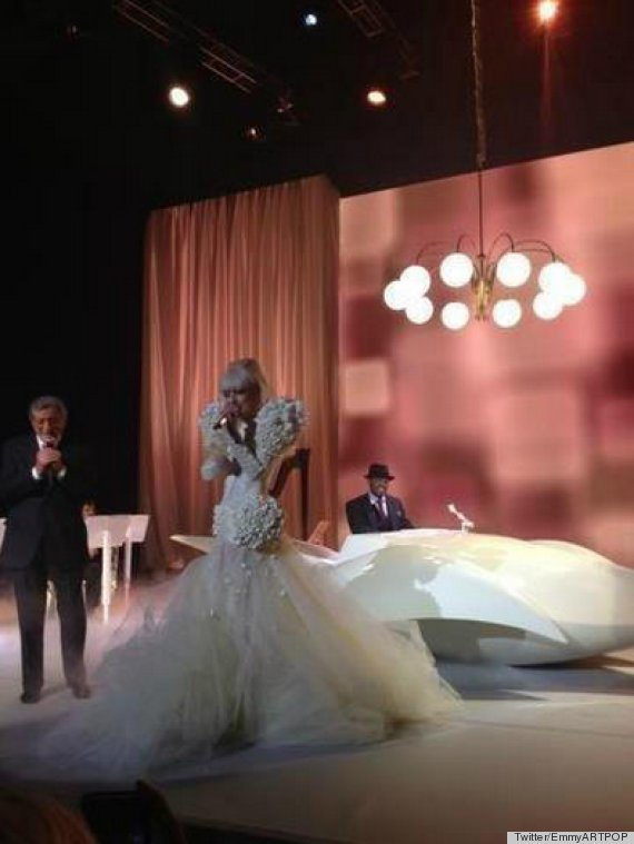 lady gaga inaugural ball dress
