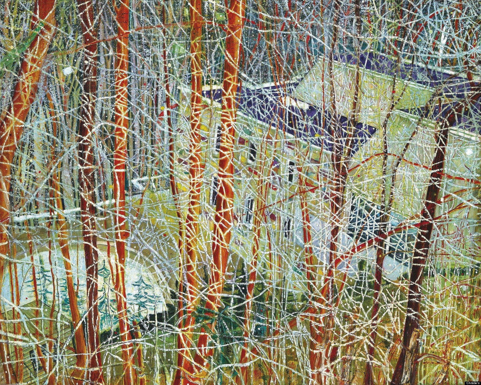 Contemporary Art Calendar Uk : Peter doig at christie s painting by the scottish artist