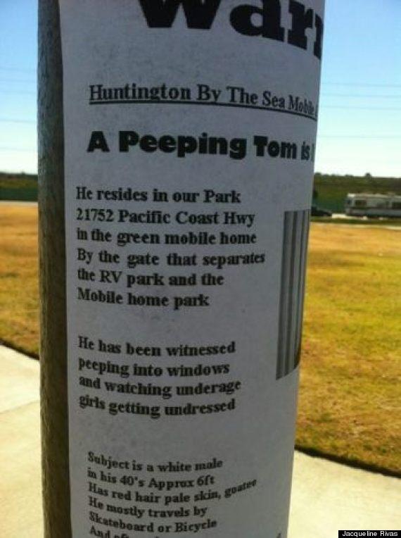 peepingtominhuntingtonbeachsign
