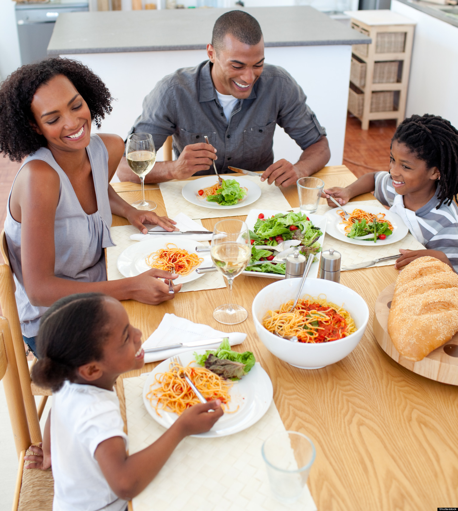 Family mealtime most families eat dinner together most for Family diner