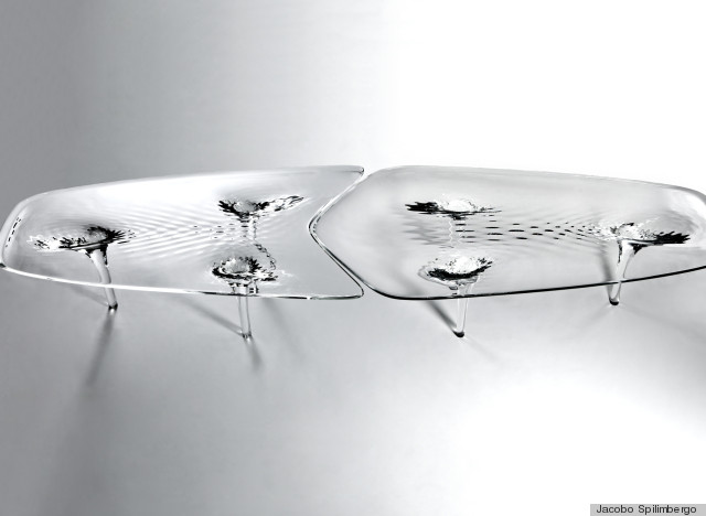zaha hadid rippling water table