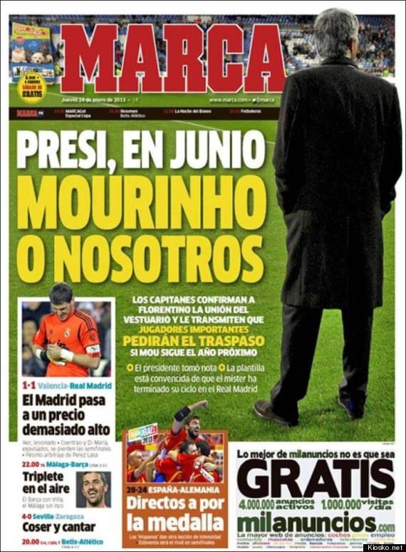 marca mourinho ultimatum