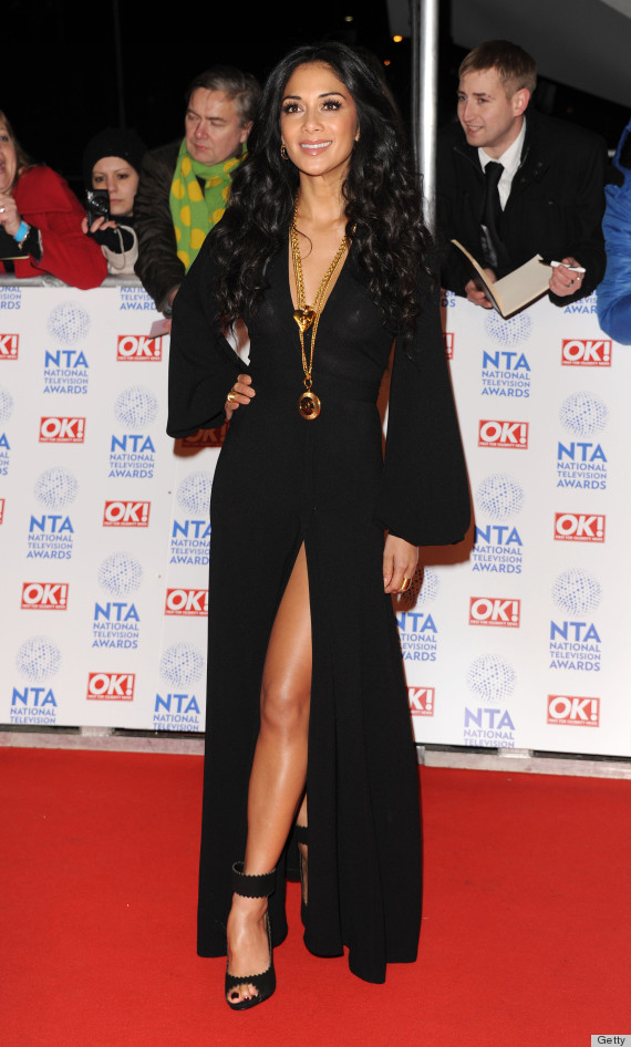 Nicole Scherzinger Suffers Wardrobe Malfunction & Exposes Chest In