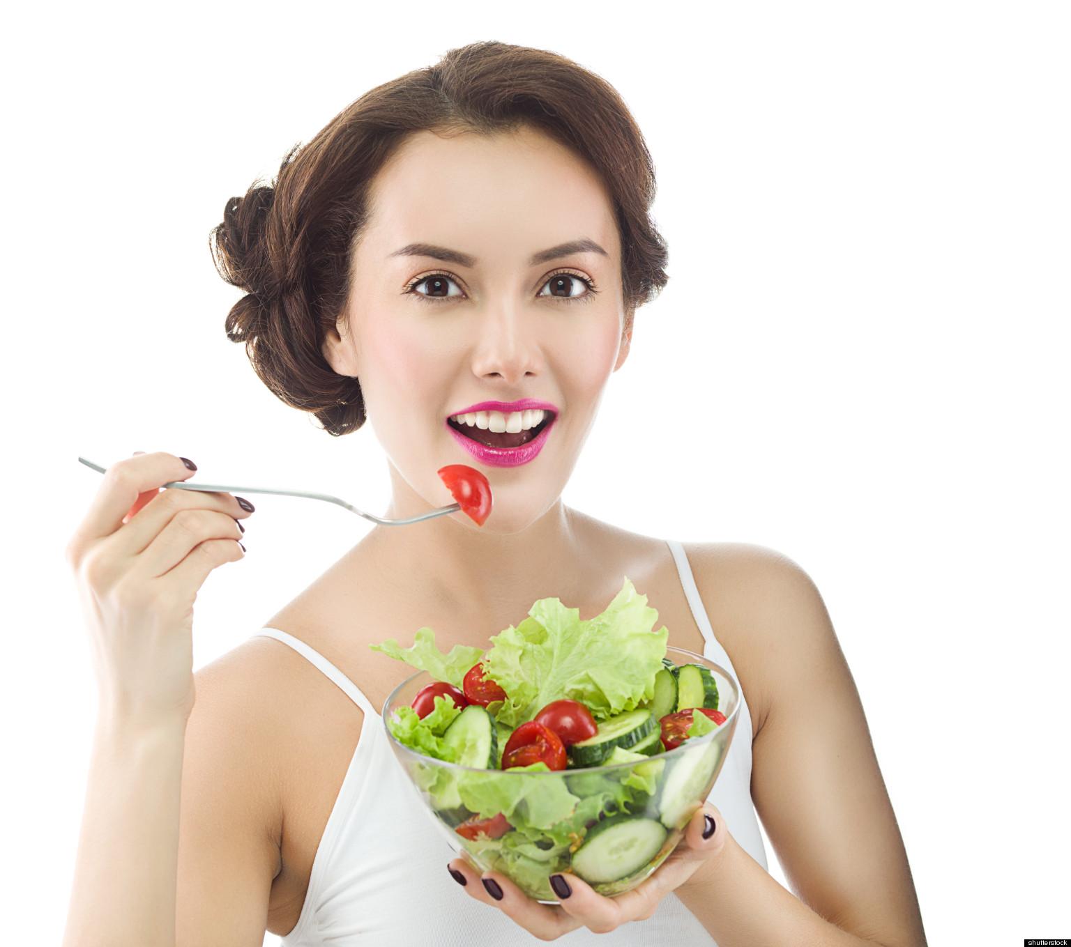 Black people eating healthy