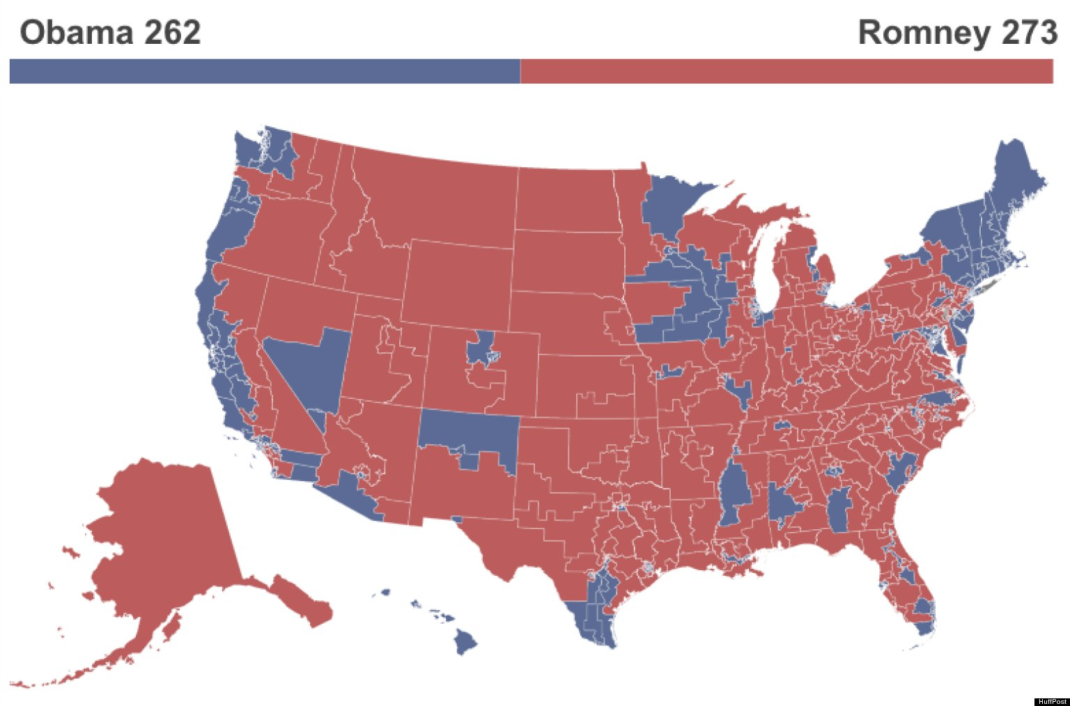 What The 2012 Election Would Look Like Under The Republicans Vote Rigging Plan Huffpost