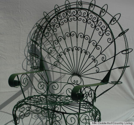Country Living What Its Worth. 1970s Peacock Chair