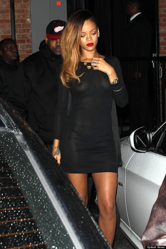 Rihanna Wardrobe Malfunction: Flashbulbs Reveal More Than RiRi