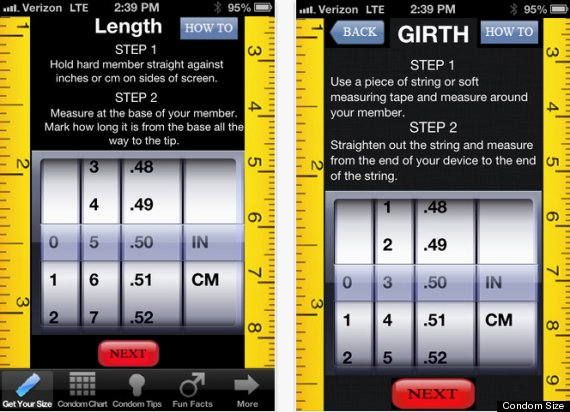 Condom Size,' A New iPhone App That Will Measure Your Member And ...