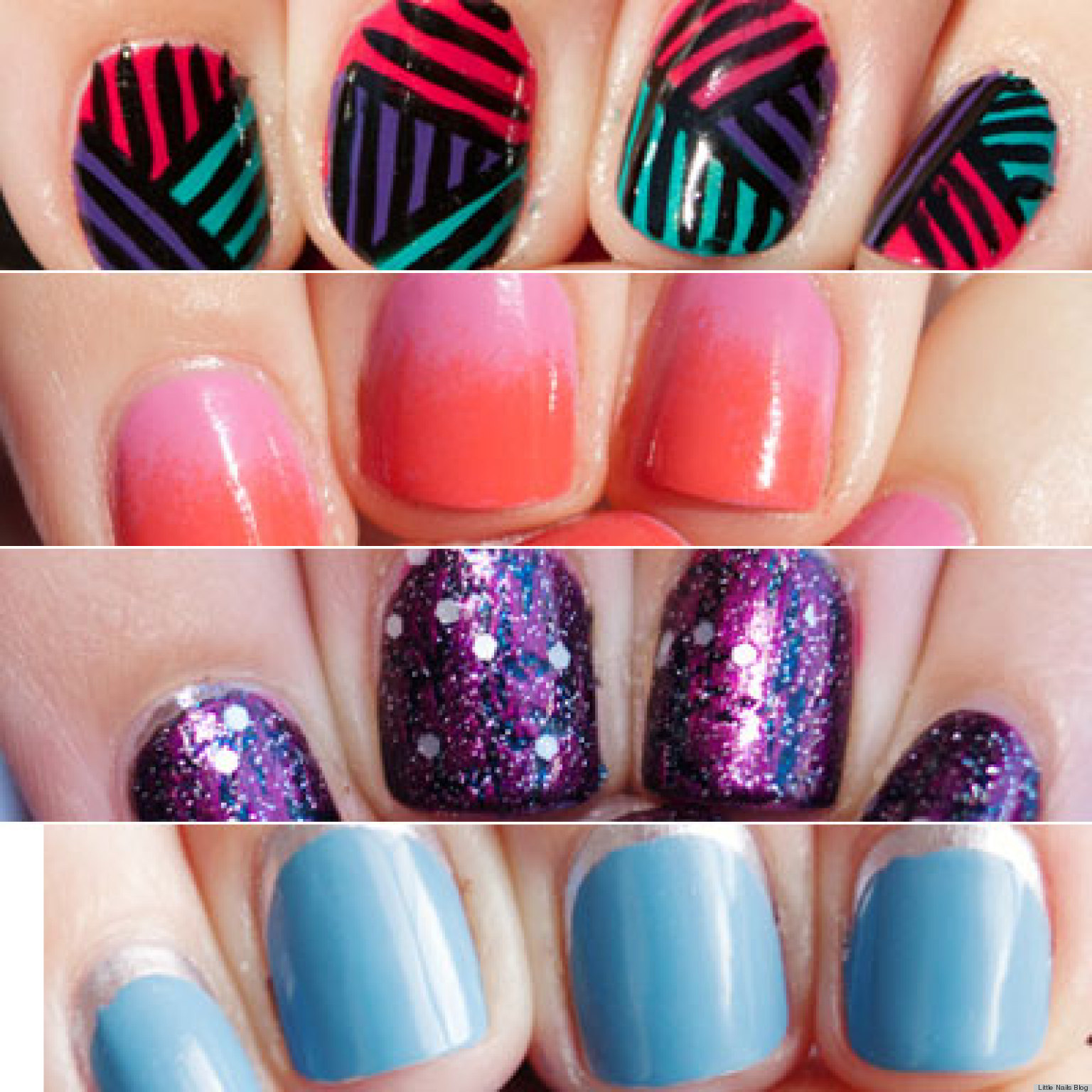 Nail Art For Short Nails Plain: 13 Nail Art Ideas For Teeny Tiny Fingertips (PHOTOS