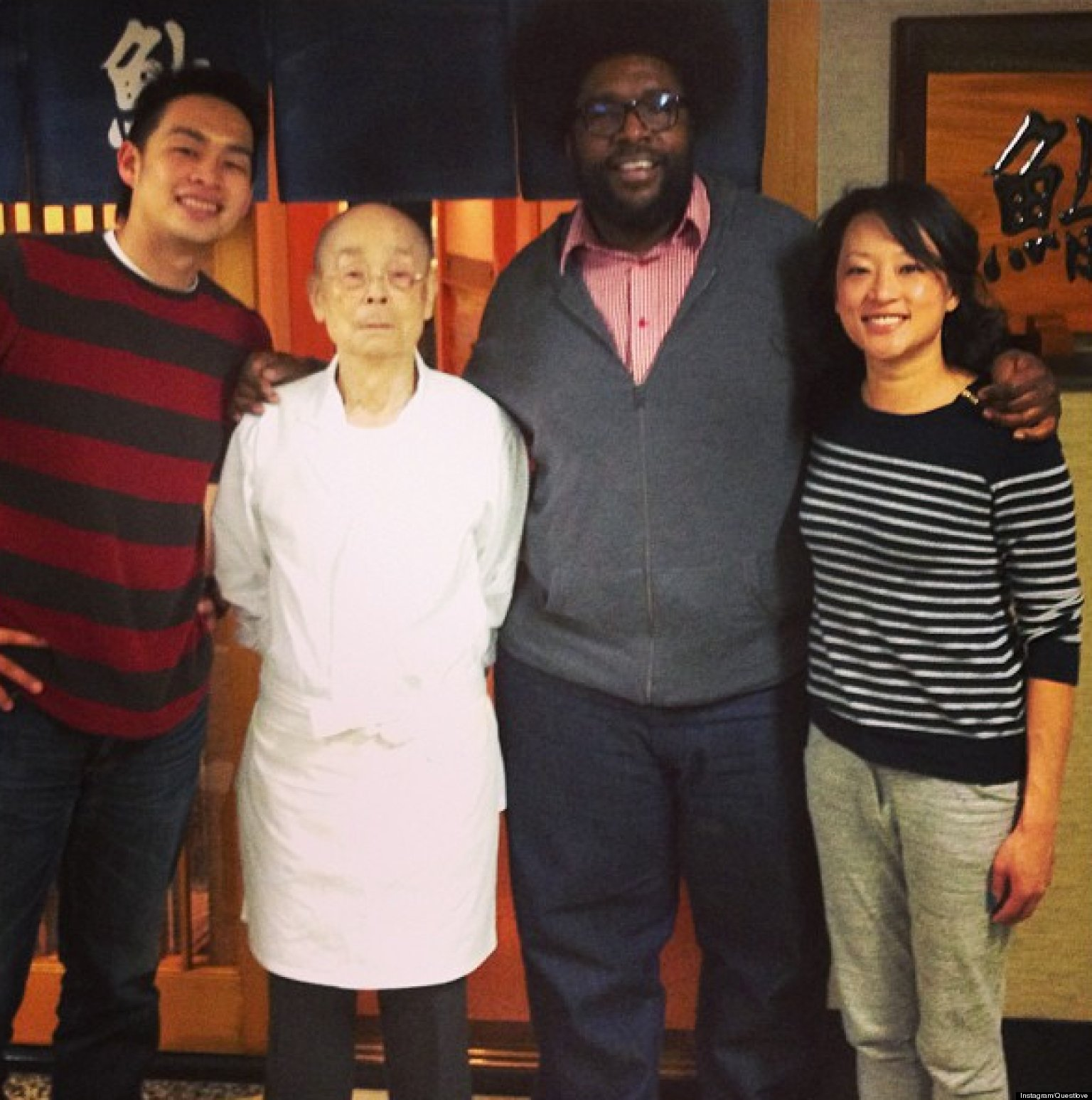 questlove meets jiro dreams of sushi chef instagrams it