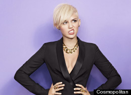Miley Cyrus Goes Braless On Cosmopolitan Cover