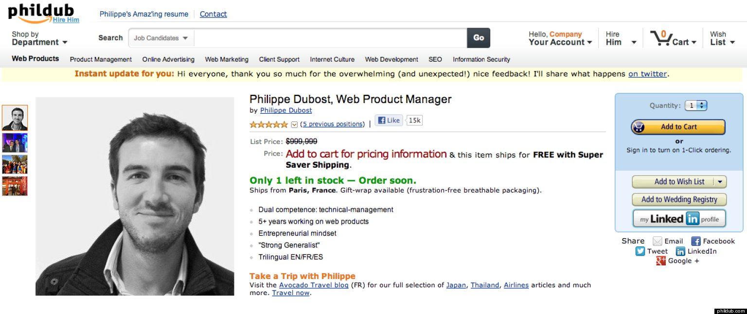 philippe dubost s resume is pure genius goes totally viral photo philippe dubost s resume is pure genius goes totally viral photo the huffington post