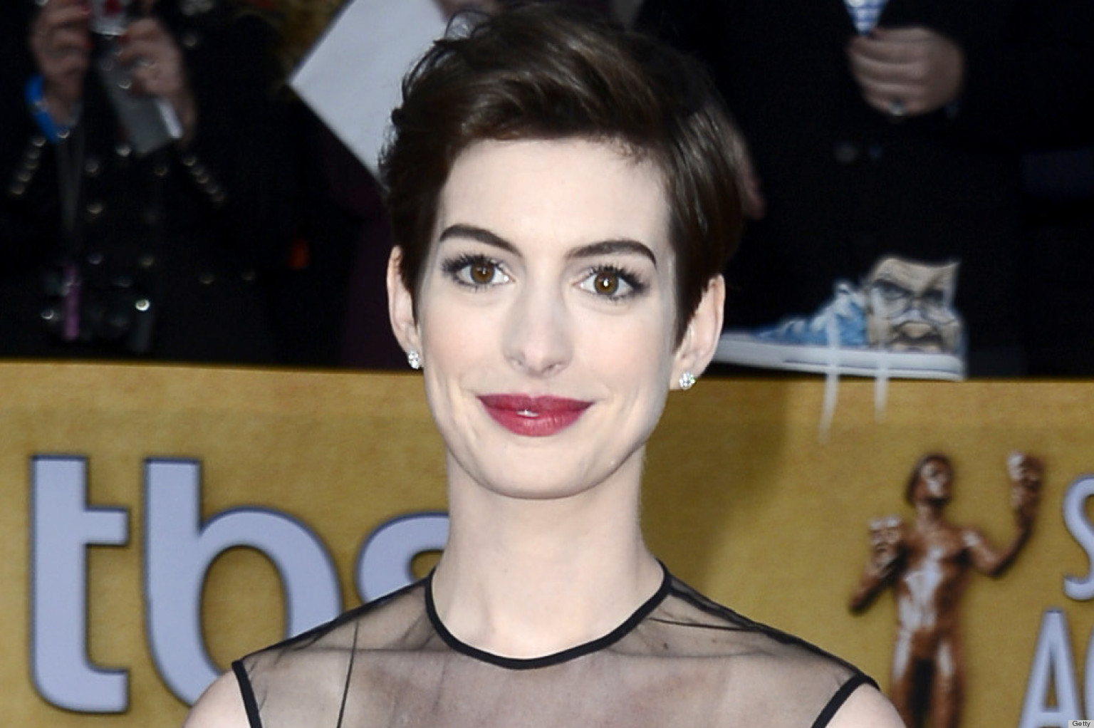 Anne Hathaway's SAG Awards 2013 Dress: Love It Or Leave It ... Anne Hathaway Facebook
