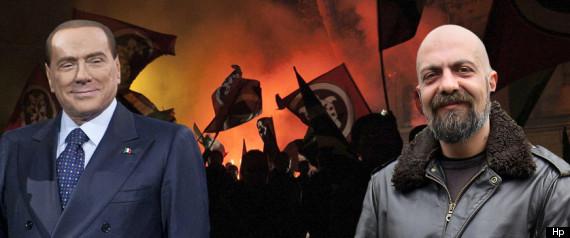 """Elezioni 2013, Gianluca Iannone di Casapound: """"Silvio Berlusconi ha ragione su Mussolini"""""""