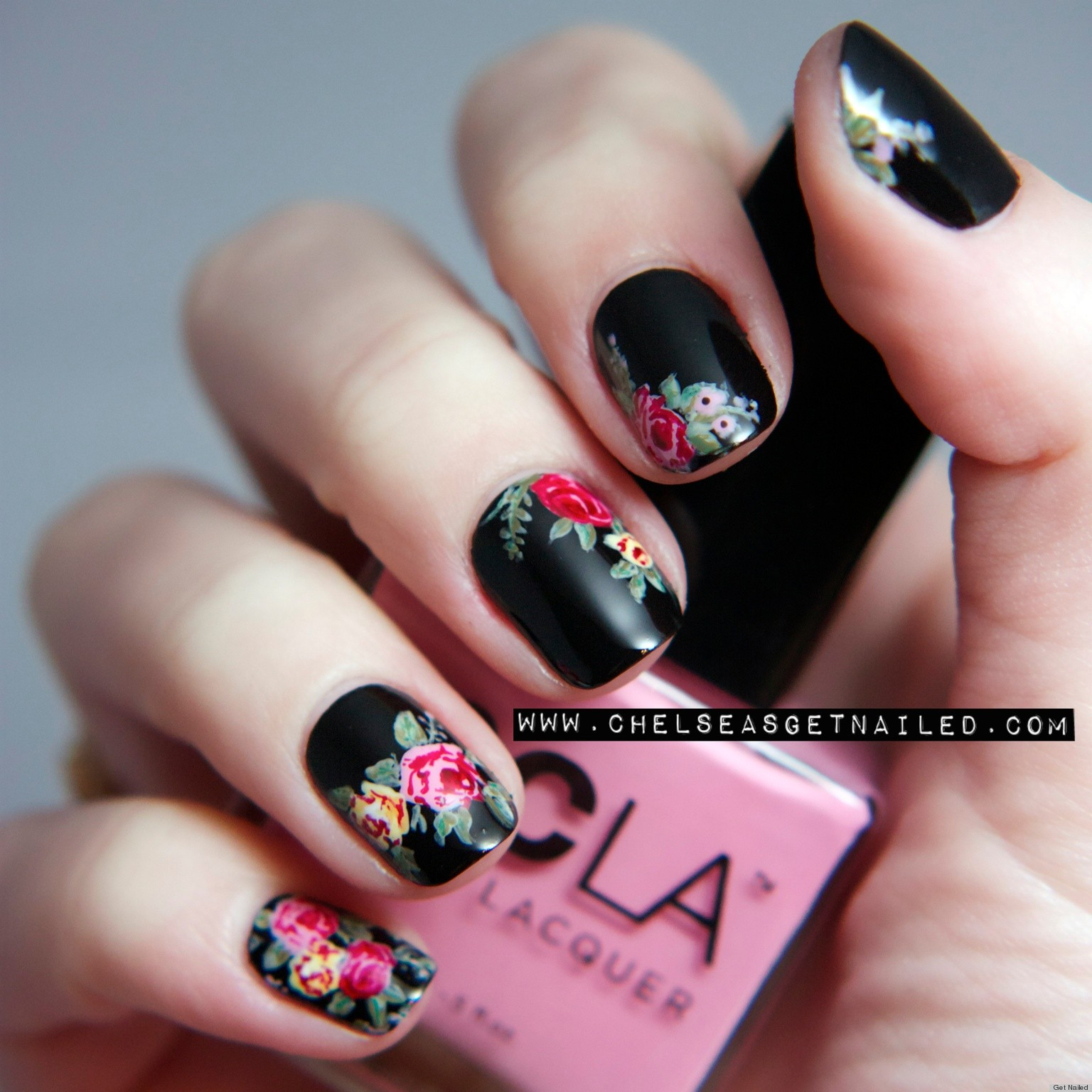 Floral Nail Art: DIY Nail Ideas: Doc Martens Nail Art And More Of Our
