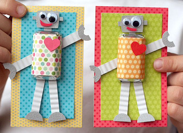 Valentines Day Ideas Make These Adorable DIY Robot Cards – Good Ideas for Valentines Day Cards