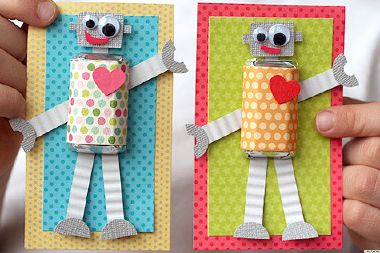 valentine's day ideas make these adorable diy robot cards