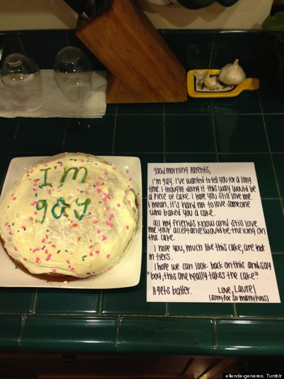 Coming Out By Cake: Girl Leaves Tasty Treat And Heartfelt Letter
