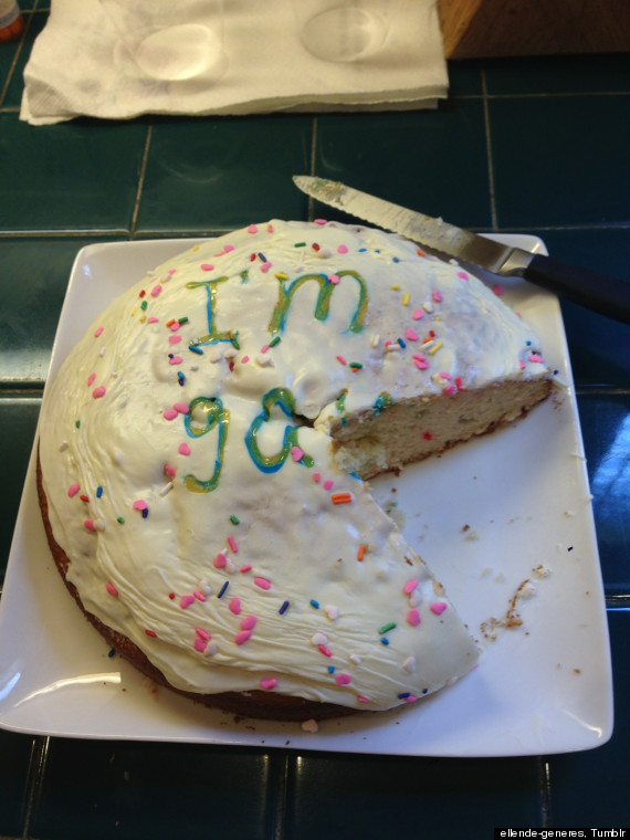 coming out gay cake
