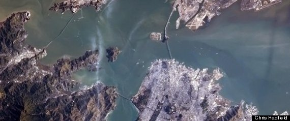 GOLDEN GATE BRIDGE FROM SPACE
