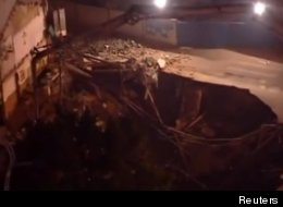 Giant Sinkhole Swallows Building In China