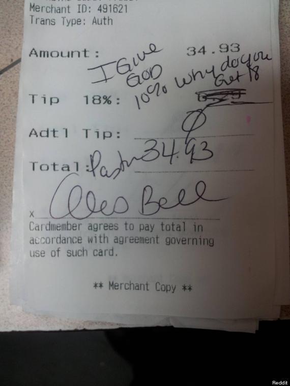i give god 10 percent tip