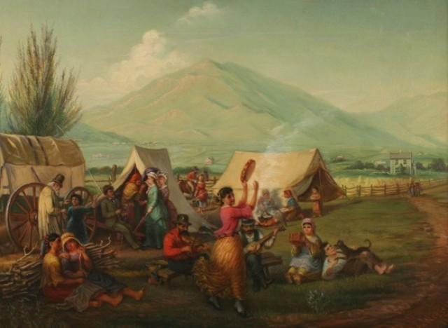 campsite along the mormon trai
